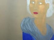 Un portrait réalisé par un des enfants de l'atelier de peinture et de dessin Entretoile à Marseille