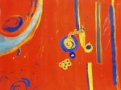 Une peinture réalisée par un des enfants de l'atelier de peinture et de dessin Entretoile à Marseille